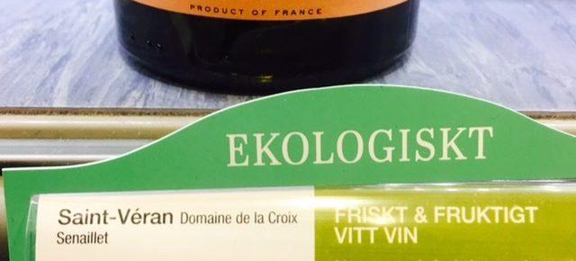 Saint-Veran vin etiketten
